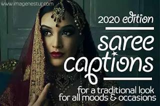 Saree-Captions-for-Traditional-Dress-Selfie-for-Instagram