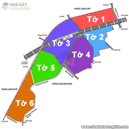 Bản đồ lộ giới hẻm phường 1 quận Gò Vấp