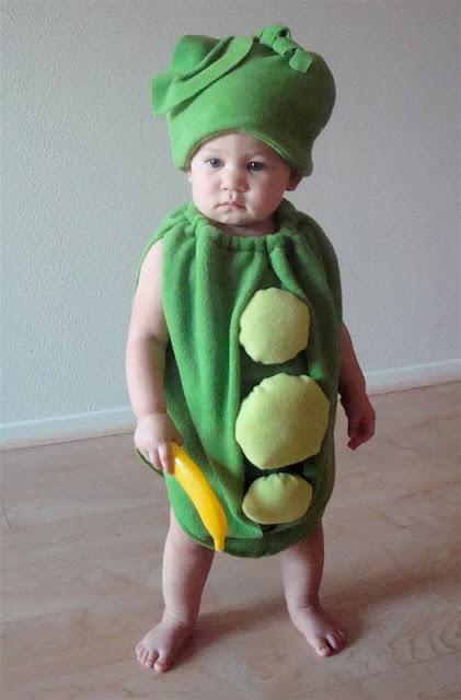 disfraz casero de de guisante para bebé