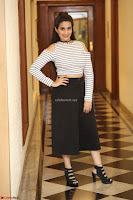 Manjusha in sleevelss crop top and black skirt at Darshakudu pre release ~  Exclusive Celebrities Galleries 056.JPG