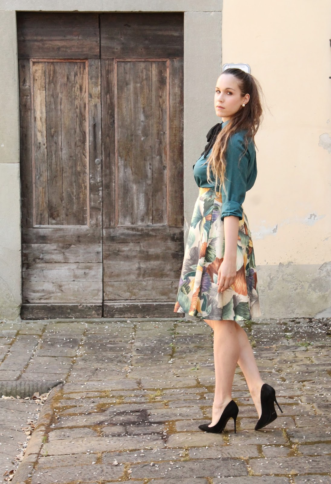 italian fashion blogger midi skirt
