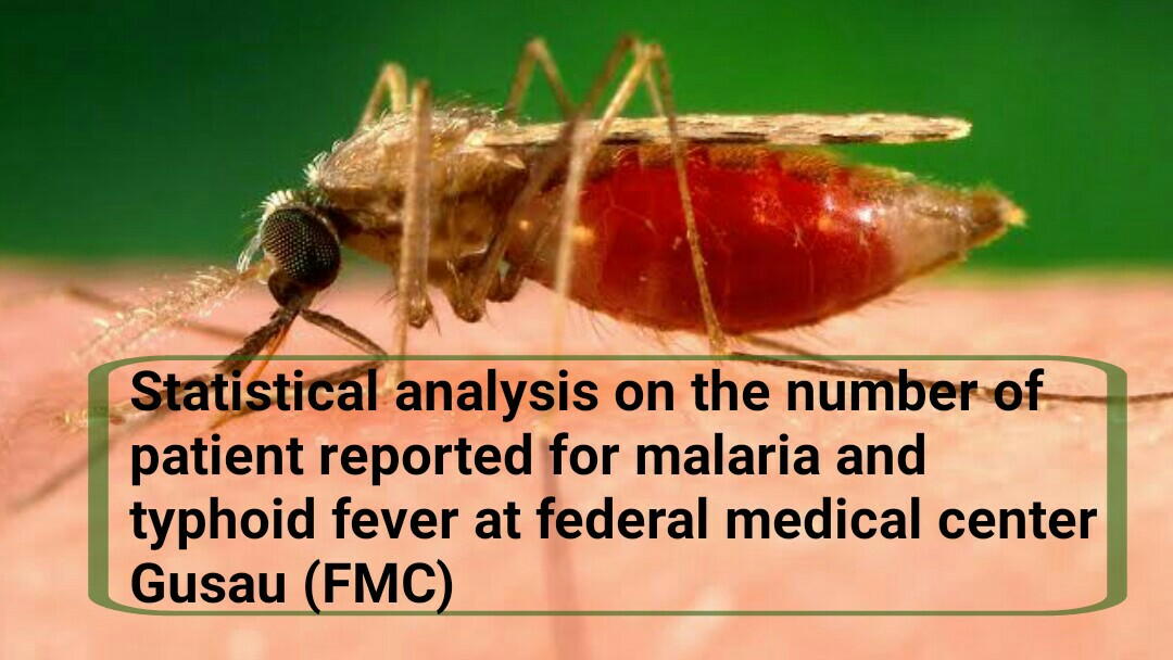 Statistical analysis on the number of patient reported for malaria and typhoid fever at federal medical center Gusau (FMC)