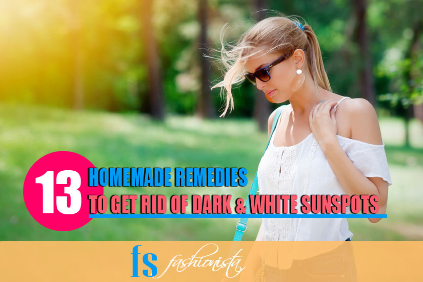 How to Get Rid of Dark & White Sunspots