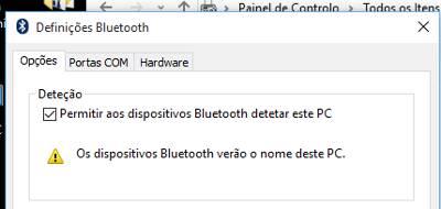 tornar bluetooth visível no pc