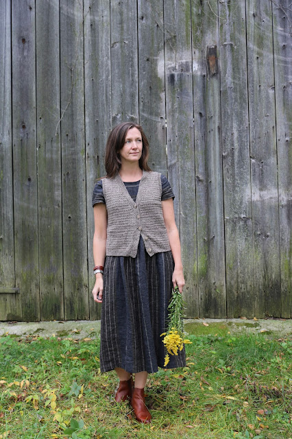 Sew Liberated Hinterland Dress Karen Templer Anna Vest Knitting Sewing Sweetkm