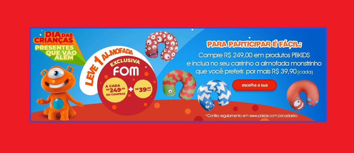 Promoção PBKIDS Dia das Crianças 2021 Leve 1 Almofada Monstrinho Por Preço Especial