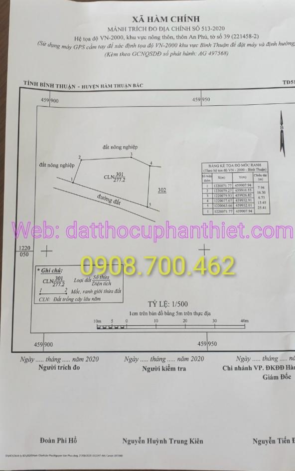 700m2 đất xây biệt thự gần trung tâm Phan Thiết, giá chỉ hơn 200tr