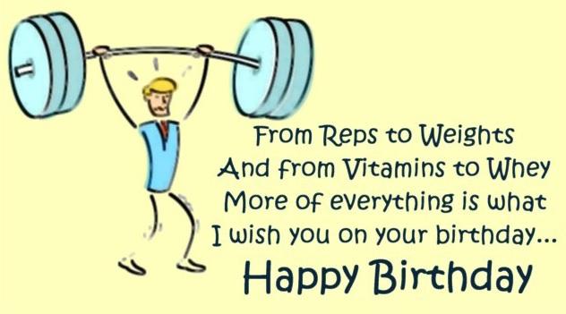 Birthday Wishes for BodyBuilders