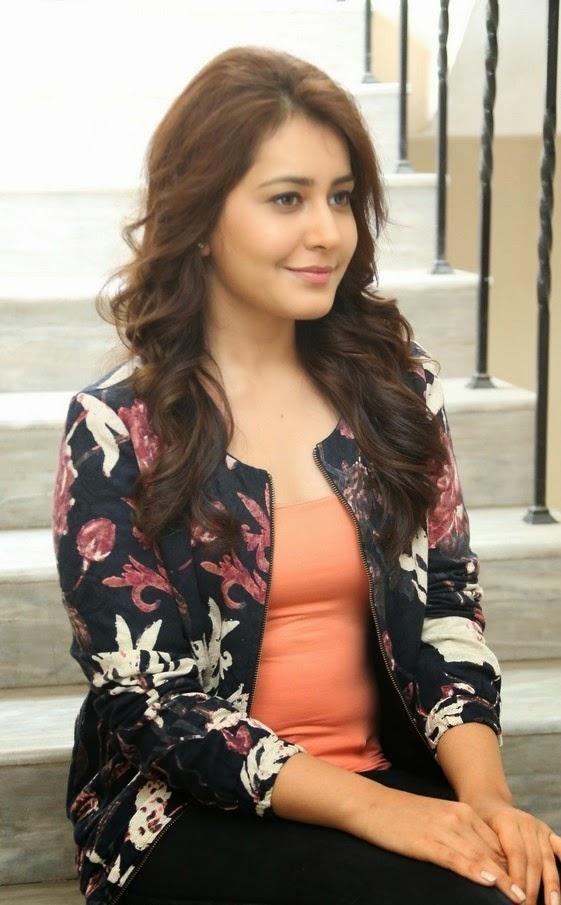 Telugu Actress Rashi Khanna Long Hair Closeup Face