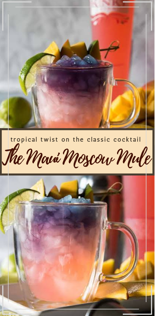 The Maui Moscow Mule  #healthydrink #easyrecipe #cocktail #smoothie