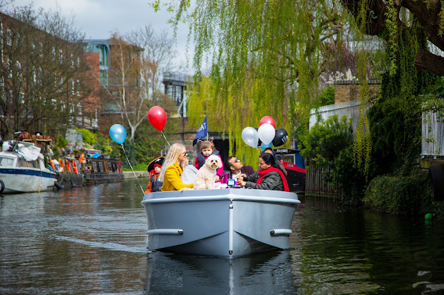 GoBoat electric picnic boat on river