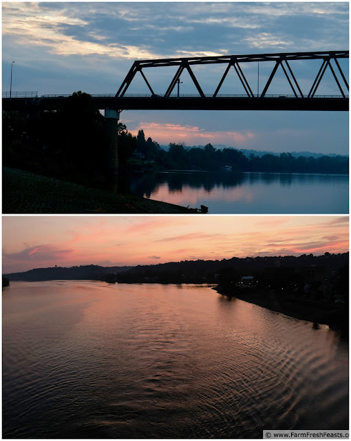 The Ohio River at Marietta is photogenic--stroll along the riverwalk at dawn or dusk.