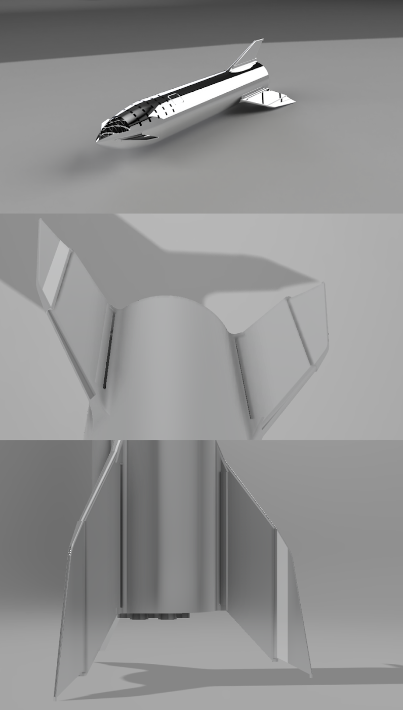 Speculation on SpaceX Starship new fin configuration
