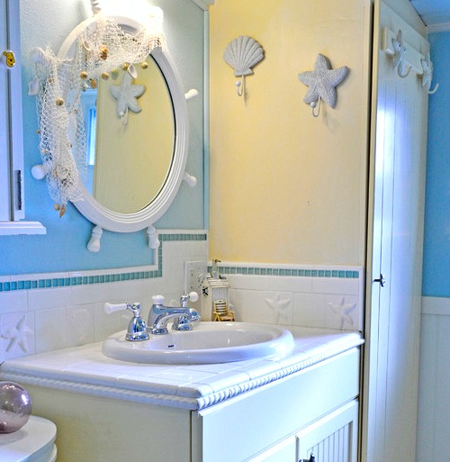 Whimsical Decorative Bathroom Mirror