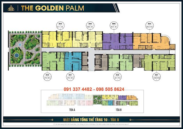 Mặt bằng T10 tòa A - The Golden Palm