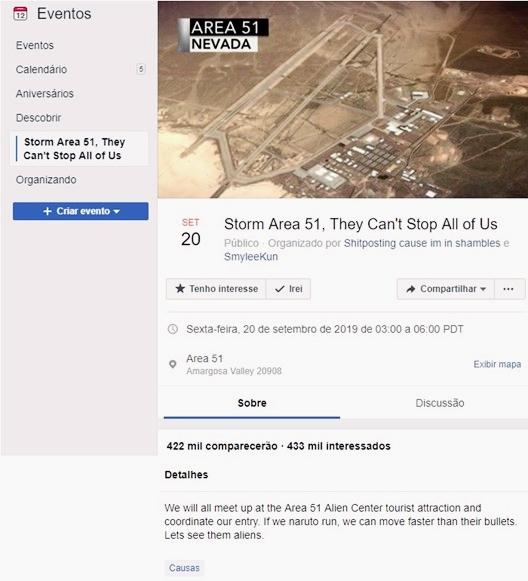 Evento para invadir Área 51, Invasão Aréa 51, Grupo para invadir área 51, área 51