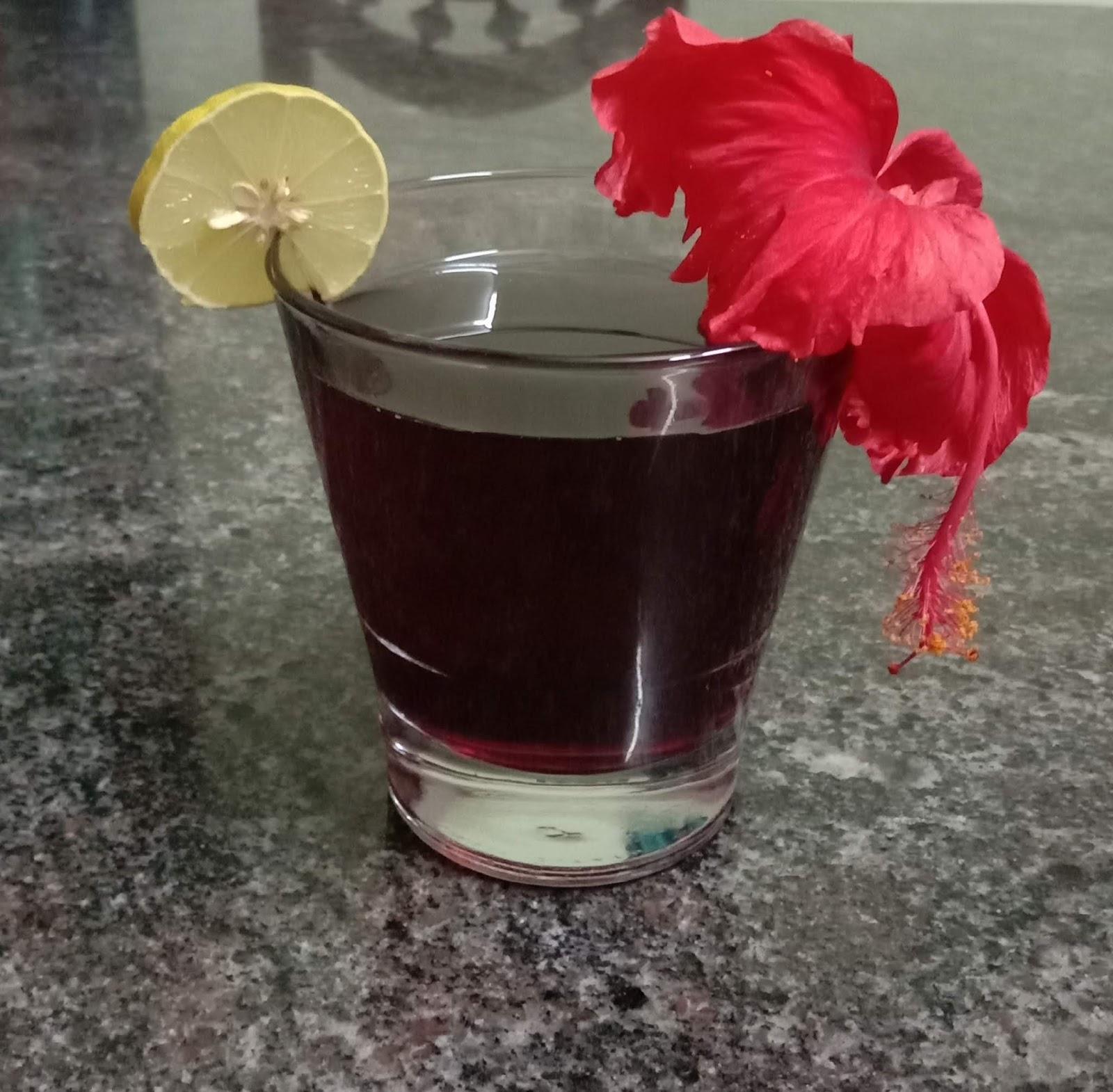 Hibiscus Flower Juice Recipe Dasavala Huvina Juice Recipe Simple