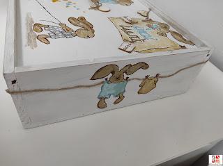 caja infantil pintada a mano
