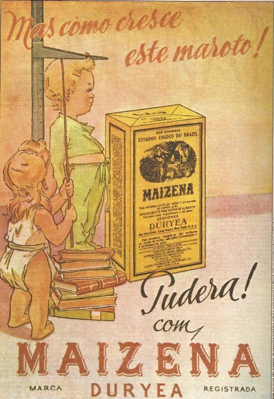 Propaganda antiga da Maizena apresentada nos anos 40