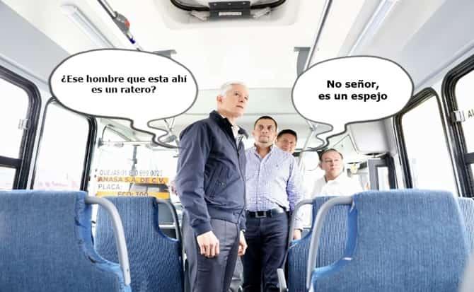 autobús, pasajeros,