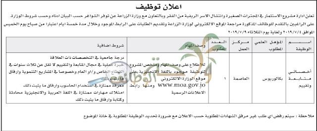 وزارة حكومية في الاردن تعلن عن وظائف شاغرة لمؤهلات البكالوريوس