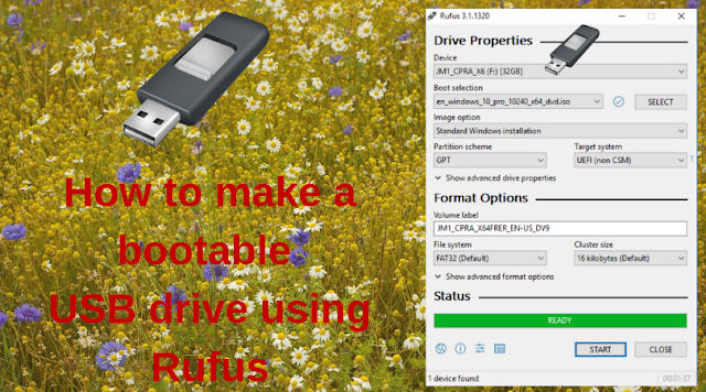 How to make a bootable USB drive using Rufus