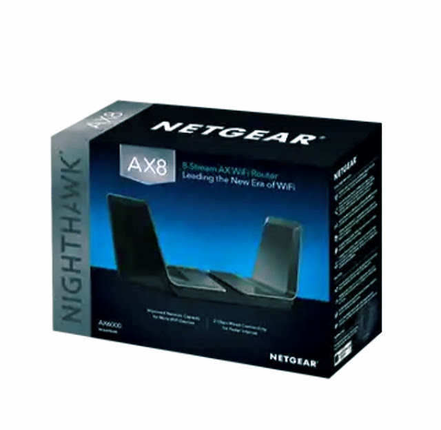 NETGEAR Nighthawk AX8 8-Stream WiFi 6 Router