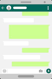 Copy Teks Kosong untuk Chat, Info dan Story WhatsApp