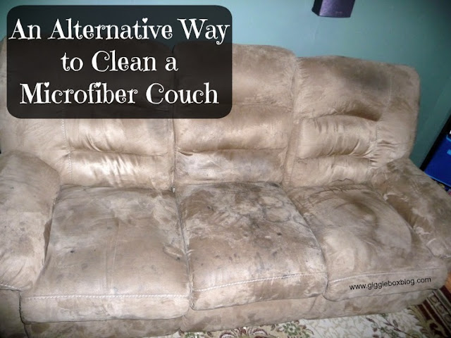 An Alternative Way To Clean A Microfiber Couch Gigglebox
