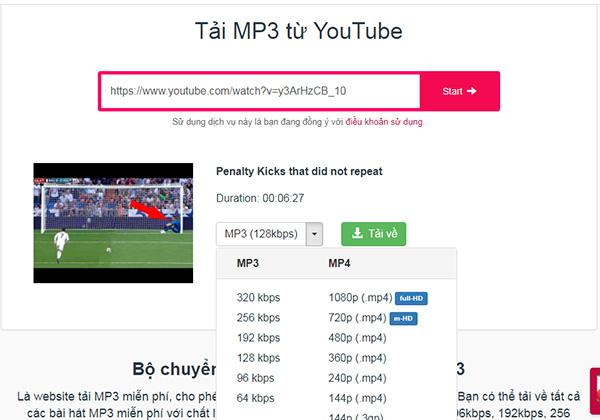 Tải nhạc MP3 từ Youtube về PC dễ dàng với Y2Mate.Com b
