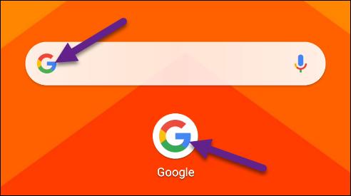 اضغط على شعار Google.