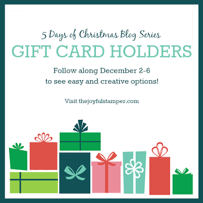 5 Days of Christmas | Gift Card Holders | Nicole Steele The Joyful Stamper
