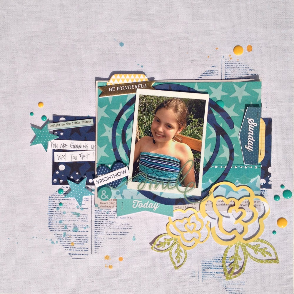 Right Now Scrapbook Page Kristine Davidson Guest Designer 17turtles Digital Cut Files