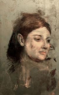 Lost Portrait oleh Edgar Degas