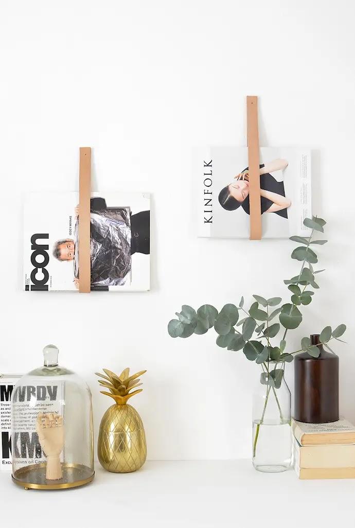 Colgador de revistas DIY de inspiración escandinava