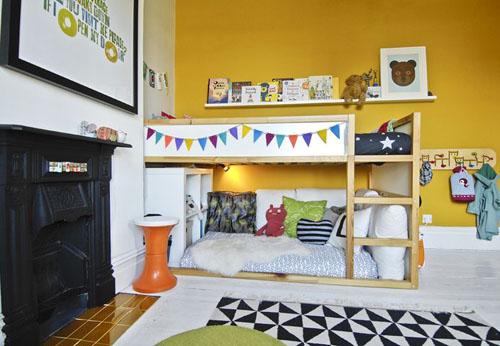 Camerette per bambini struttura kura di ikea le - Wandfarbe ikea ...