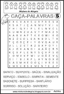 Caça-palavras com letra S