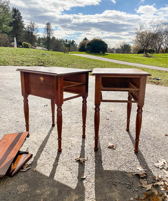Removing leaves from drop leaf tables