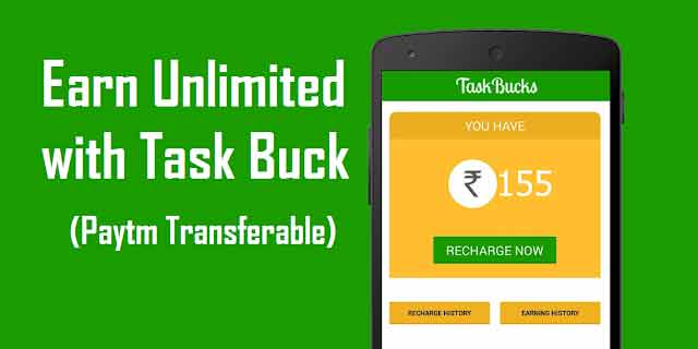 Taskbuck 60 Rs Per Friend and 100 Rs daily - Prrof Added [Paytm Transferable]