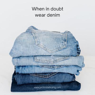 When in doubt wear denim