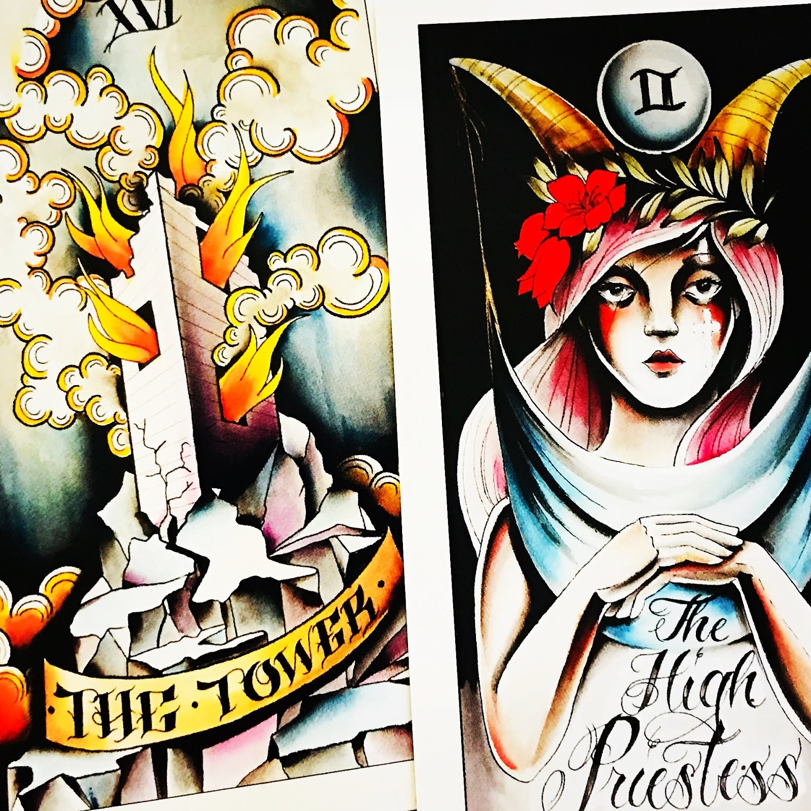 Eight Coins' Tattoo Tarot by Lana Zellner | The Curious Cardslinger