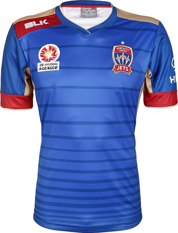 BLK divulga as novas camisas do Newcastle Jets - Show de Camisas d9741c4bdaed6