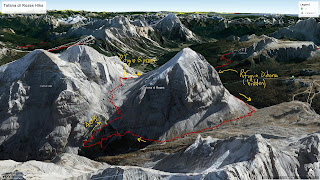 Overview map showing hike around Tofana di Rozes.