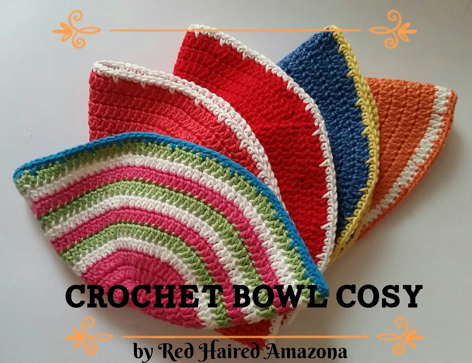 Crochet Patterns On Amazon : crochet cotton bowl cosy microwave red haired amazona