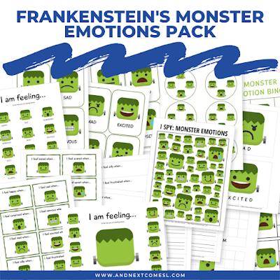 Frankenstein's Monster Themed Emotions Pack for Kids