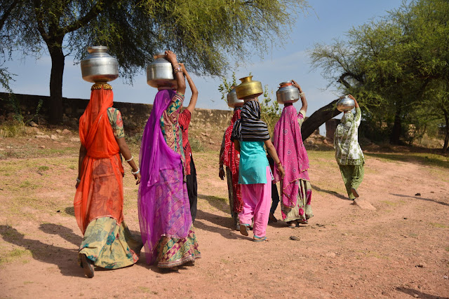 Women travel long distances for water
