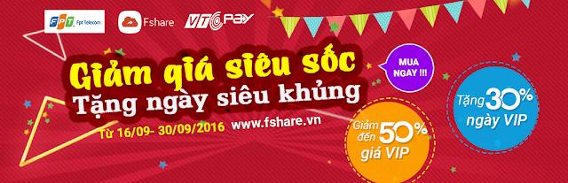 www.kenhraovat.com: Giảm giá 50% - tặng 30% ngày VIP Fshare cực hot!