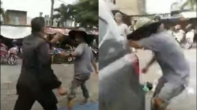 Viral Video Satpam Tendang Penyandang Disabilitas di Simpang Limun Medan