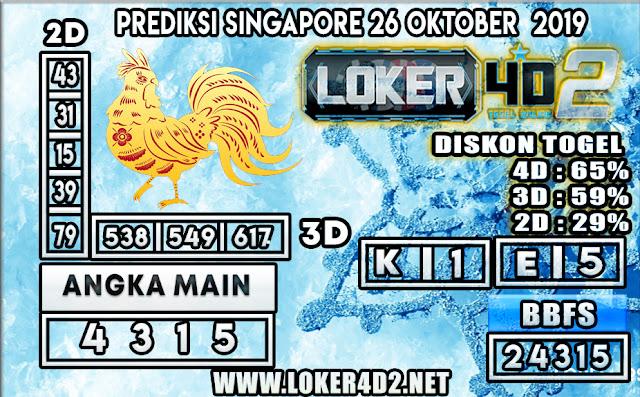PREDIKSI TOGEL SINGAPORE LOKER4D2 26 OKTOBER 2019