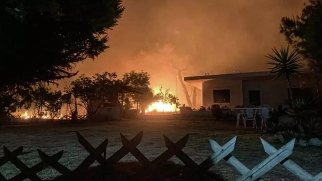 Ολονύχτια  «μάχη»  με τις φλόγες στον Σχίνο Κορινθίας: Εκκενώθηκαν οικισμοί, ζημιές σε σπίτια (vid)